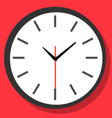 clock icon in flat style timer on color vector image