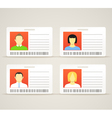 Collection of an id cards vector image vector image