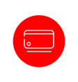 credit debit card outline red circle icon design vector image