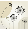 Decorative Dragonflies Background vector image vector image
