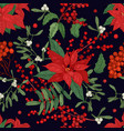 elegant seamless pattern with parts winter vector image vector image
