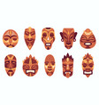 ethnic masks traditional ritual ceremonial vector image vector image