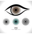 eye icon isolated vector image vector image