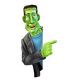 frankensteins monster pointing vector image vector image
