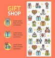 gift shop banner vecrtical vector image vector image
