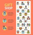gift shop banner vertical vector image vector image