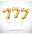 golden number 777 seven hundred and seven vector image vector image