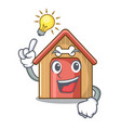 have an idea mascot dog house of wood home vector image