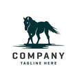horse and pegasus logo design template vector image vector image