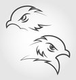 Icon eagle heads outline style vector image vector image