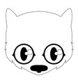isolated cute black cat avatar vector image vector image