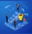 isometric business team success concept vector image