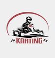 karting race symbol logo or emblem template vector image vector image