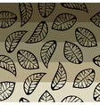 Leaves on degrade background vector image vector image