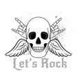 lets rock logo vector image vector image