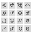 line space icons set vector image vector image