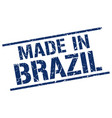 made in brazil stamp vector image