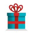 merry christmas gift isolated icon vector image vector image