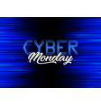 modern background design for cyber monday vector image vector image
