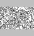 nice coloring book page with decorative spiral vector image vector image