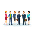 office workers in beautiful business clothes vector image vector image
