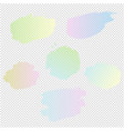 pastel blots set isolated transparent background vector image vector image