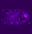 pattern of purple plant elements on an eggplant vector image vector image