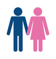 pictogram couple design vector image vector image
