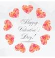 Polygon Hearts vector image vector image
