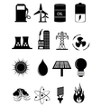 Power Energy Icons Set vector image vector image