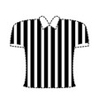 referee shirt design vector image vector image
