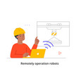 remotely operation robots vector image vector image