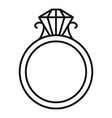 rugold ring icon outline style vector image vector image
