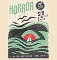 sea monster theme cinema movie in retro style vector image vector image