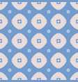 seamless flower pattern on a blue background color vector image