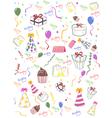 Seamless happy birthday background vector image vector image
