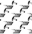 seamless pattern a speeding shopping cart vector image vector image