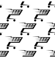 Seamless pattern of a speeding shopping cart vector image vector image
