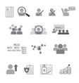 set human resource flat line icon vector image vector image