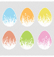 set of colored isolated easter eggs with vector image