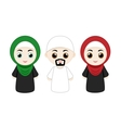 set of muslim people vector image vector image