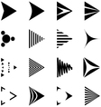 Set of Simple Black and White Arrows Icons vector image vector image