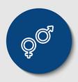 sex symbol sign white contour icon in vector image vector image