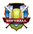 Softball League Badge Emblem Icon vector image vector image