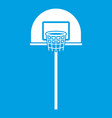 street basketball hoop icon white vector image vector image