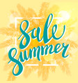summer sale banner for business promotion and vector image vector image