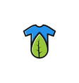 t shirt and leaf logo inspiration isolated on vector image vector image