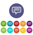 Talk flat icon vector image vector image