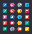 telephone simple color icons vector image