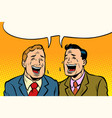 the two friends laugh vector image vector image